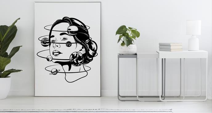 Poster Frau und Orbit