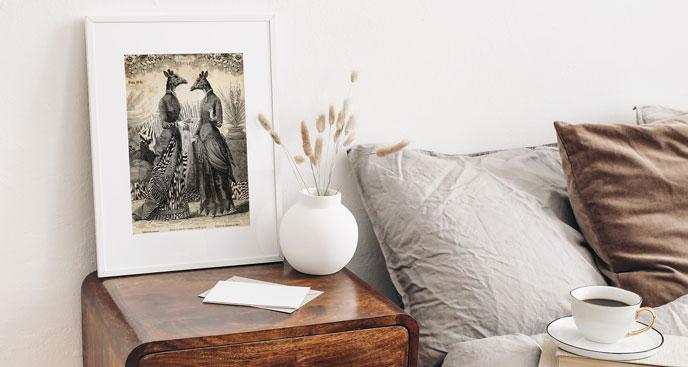 Poster Frauen-Giraffen beim Gespräch
