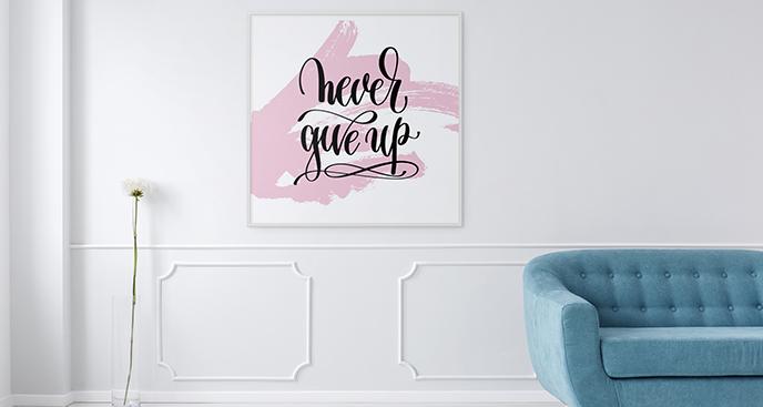 Poster fürs Wohnzimmer mit Aufschrift