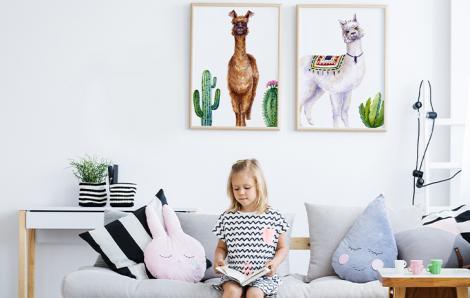 Poster für ein Kinderzimmer mit Tieren