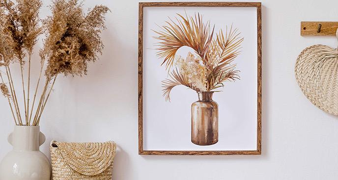 Poster getrocknete Gräser