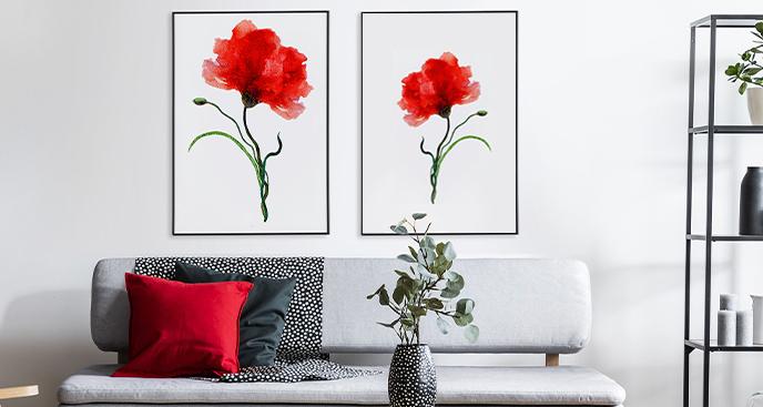Poster im Floral-Stil