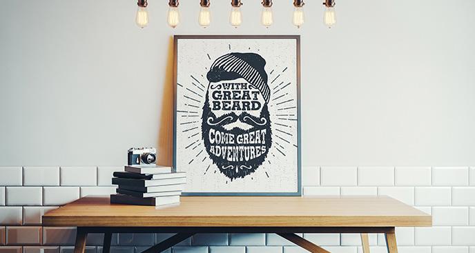 Poster im Scandi-Stil für Hipster