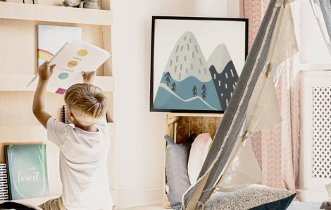 Poster im skandinavischen Stil fürs Baby