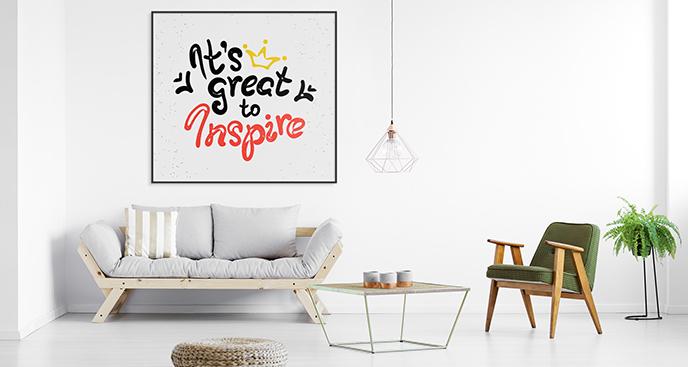 Poster inspirierendes Zitat