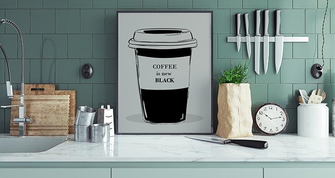 Poster Kaffee für die Küche