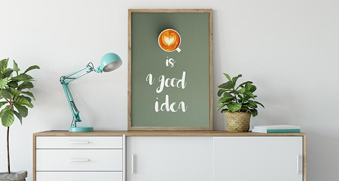 Poster Kaffee Herz