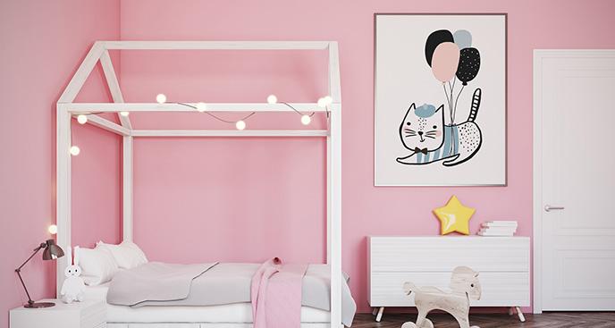 Poster Katze fürs Kinderzimmer
