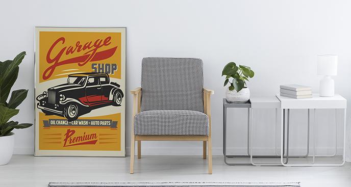Poster klassisches Fahrzeug
