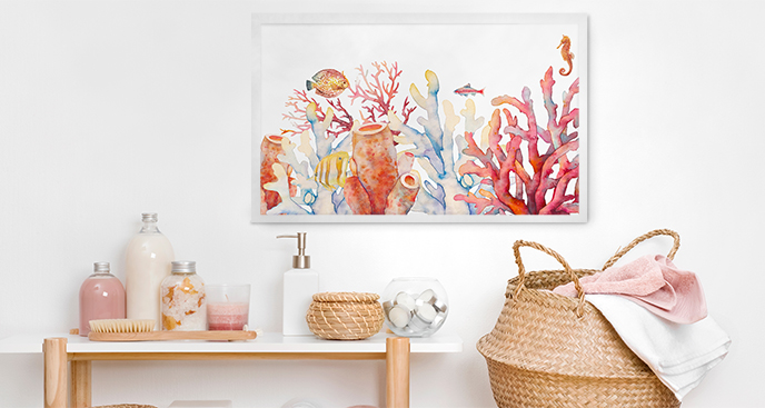 Poster Korallenriff fürs Badezimmer