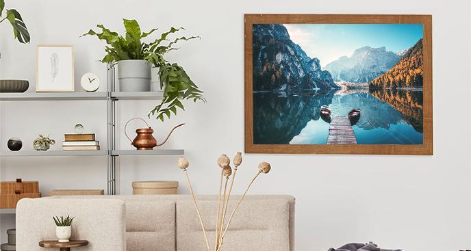 Poster Landschaft eines Bergsees