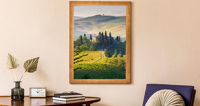Poster Landschaft mit grünem Tal