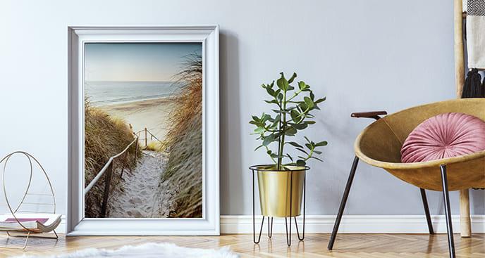 Poster Landschaft mit Strand