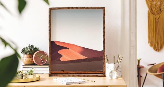 Poster Landschaft Wüste