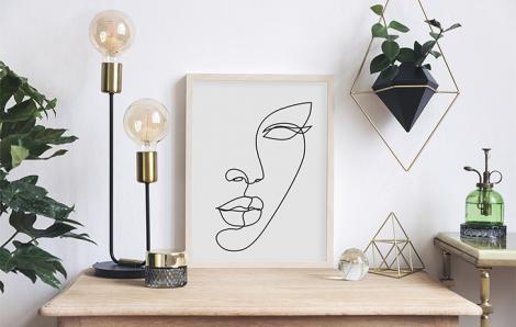 Poster Line Art – weibliches Gesicht