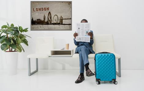 Poster London im Retrostil