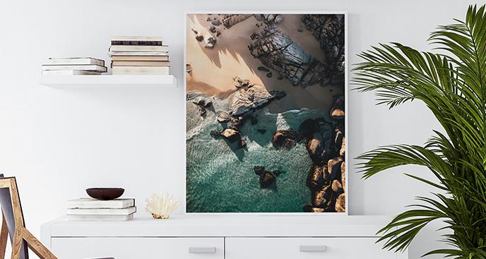 Poster Meer aus der Vogelperspektive