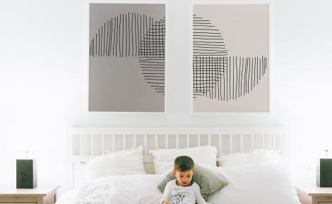 Poster Minimalismus fürs Schlafzimmer