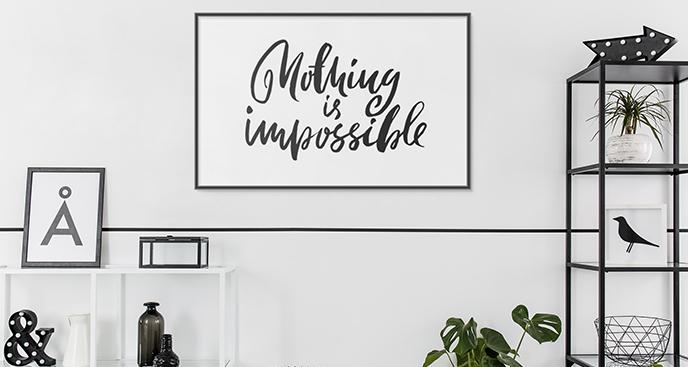 Poster minimalistische Typografie