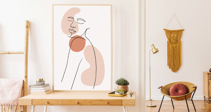 Poster minimalistisches Porträt