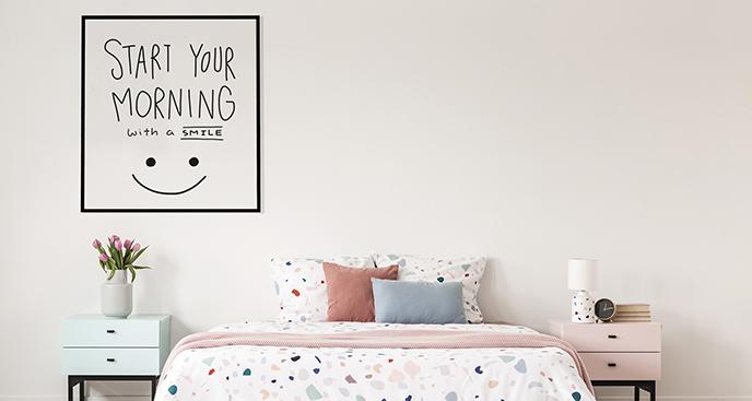 Poster minimalistisches Zitat
