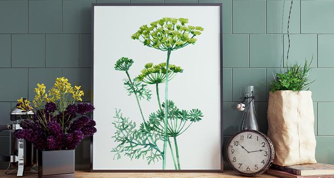 Poster mit einem Pflanzenmotiv