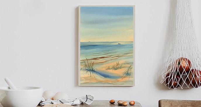 Poster mit einer Meereslandschaft