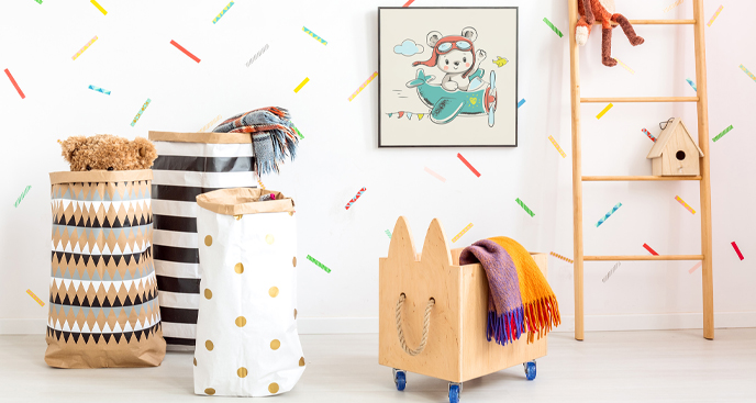 Poster mit Globetrotter für Kinderzimmer