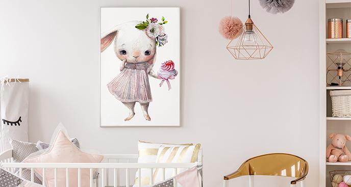 Poster mit Kaninchen für Kinderzimmer