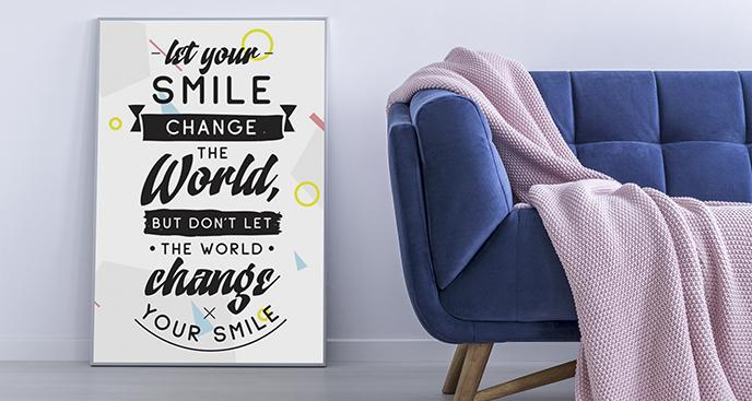Poster mit motivierendem Zitat