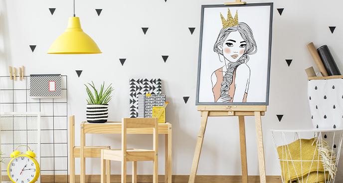 Poster mit Prinzessin Portrait