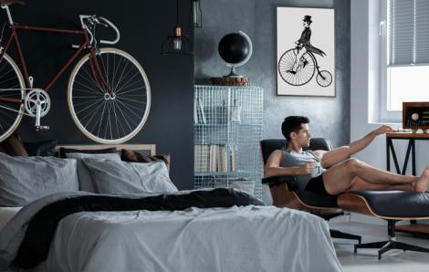 Poster mit Radfahrer für Schlafzimmer