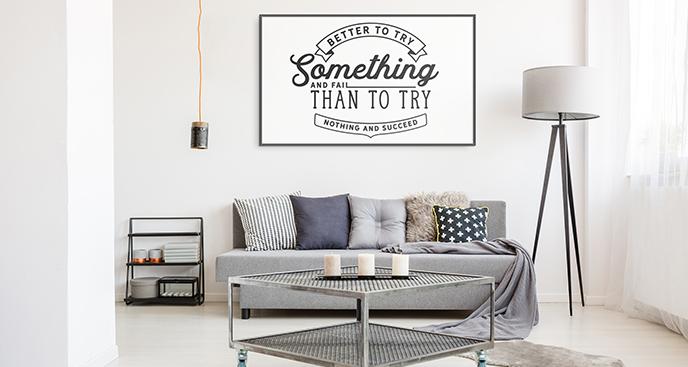 Poster Motivierungstypografie