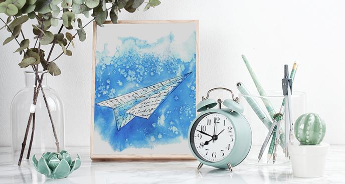Poster Papierflugzeug