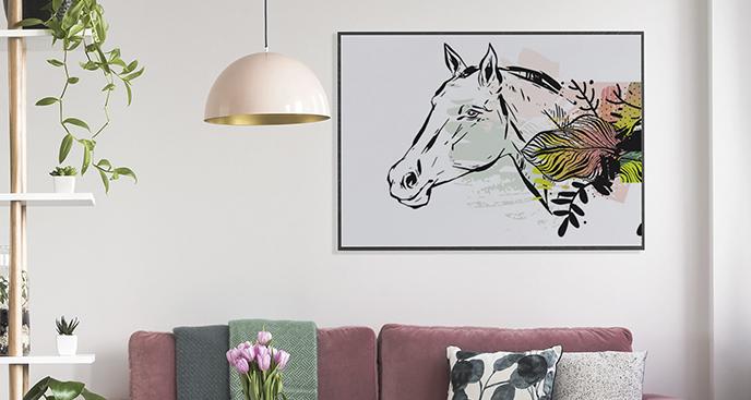 Poster Pferd fürs Wohnzimmer