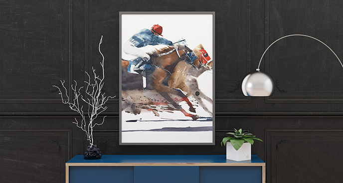 Poster Pferderennen