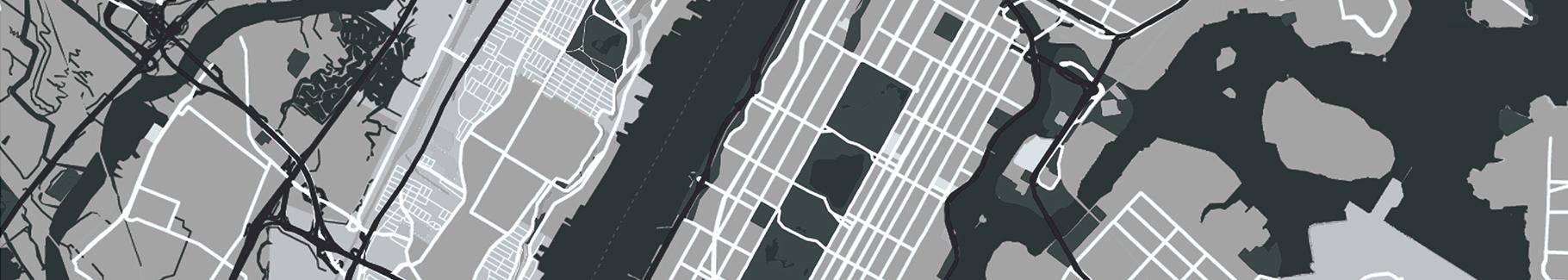 Poster Plan von Manhattan