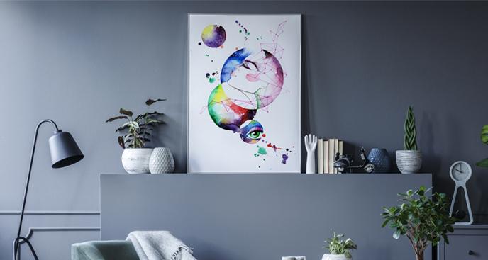 Poster Planeten in Aquarell