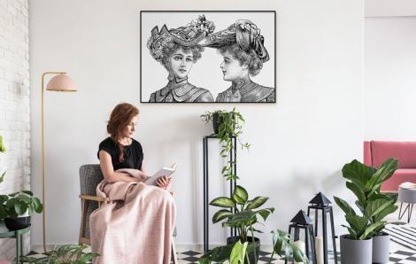 Poster Retro – Frauen mit Hüten