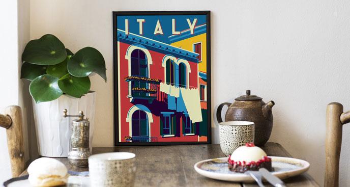 Poster Retro – sonniges Italien