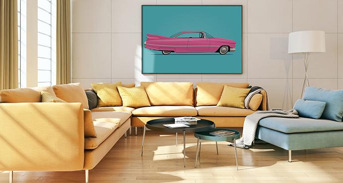 Poster rosa Auto