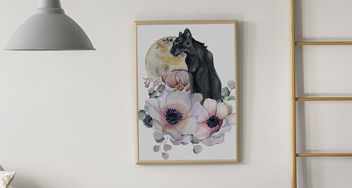 Poster Schwarz-Panther