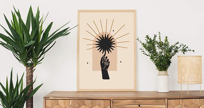 Poster schwarze Sonne