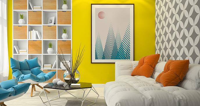 Poster skandinavischer Stil fürs Wohnzimmer
