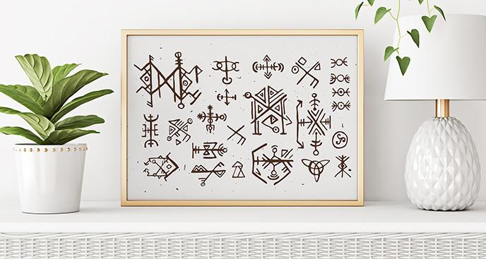 Poster skandinavischer Stil – Symbole
