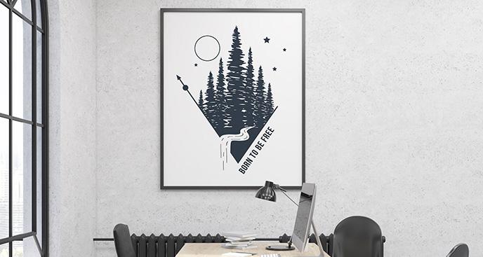 Poster skandinavischer Wald