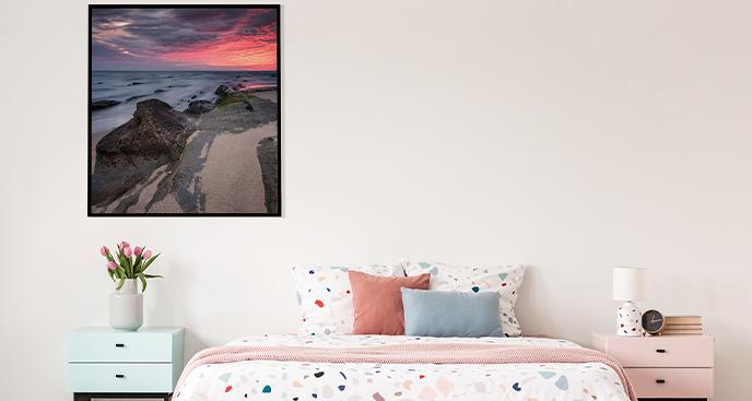 Poster Sonnenaufgang an der Küste