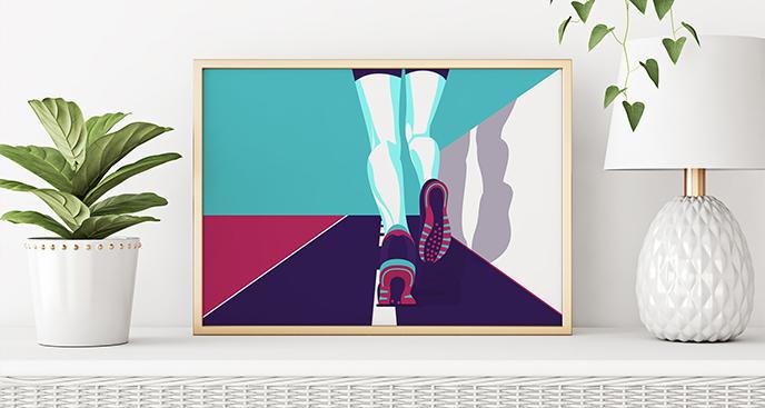 Poster Sport für einen Läufer