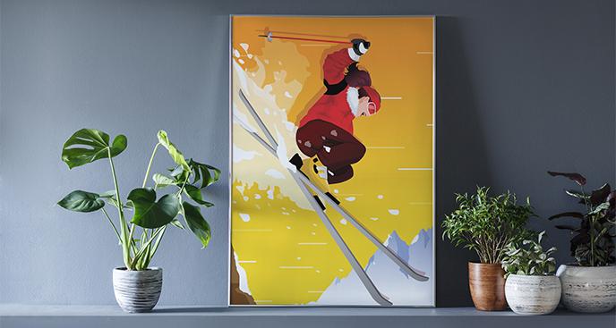 Poster Sport - Skifahren