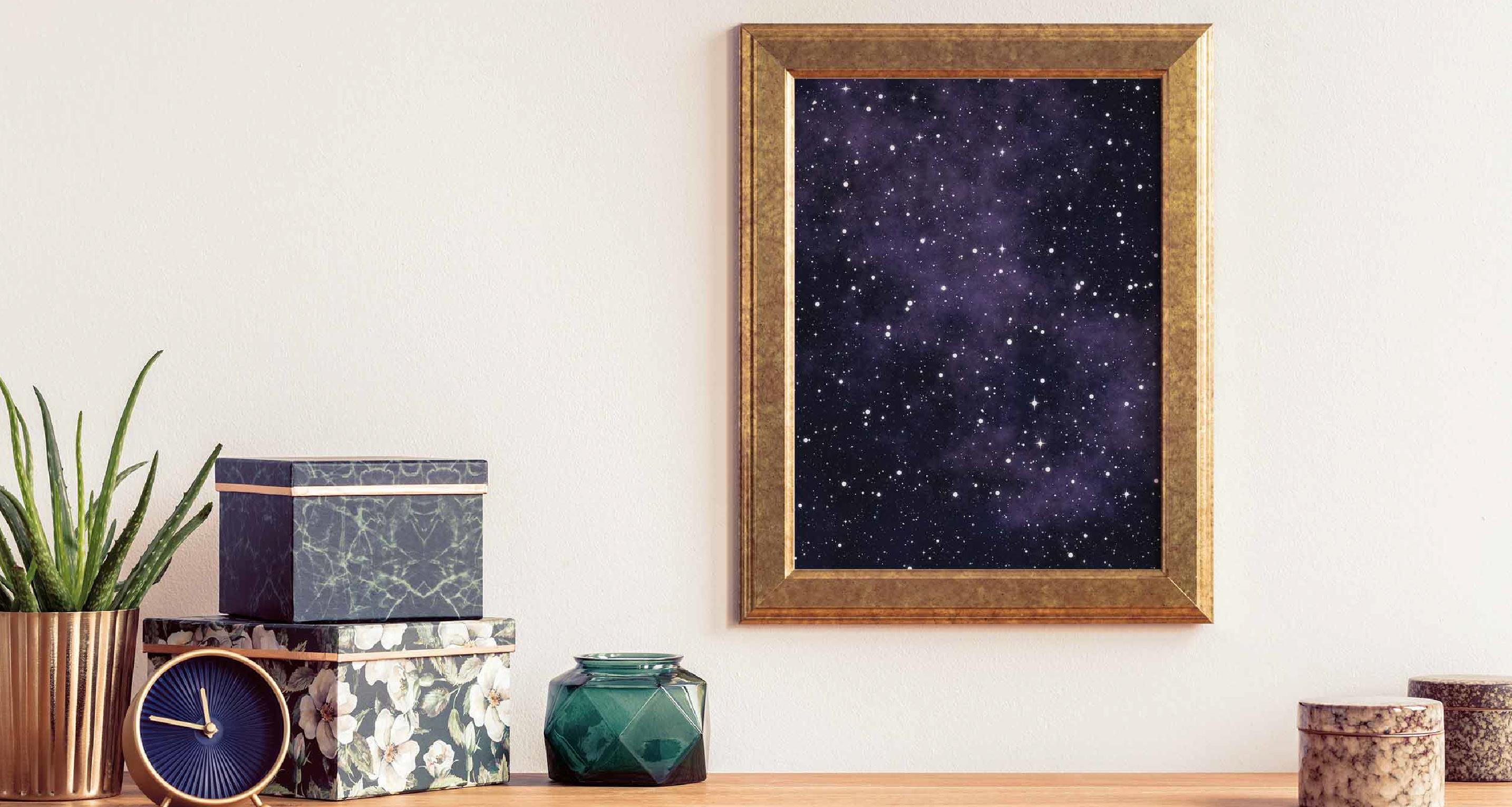 Poster Sterne und Universum